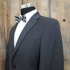Tommy Hilfiger Striped Sport Coat Mens 42l Wool