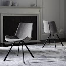 safavieh terra mid century modern light grey black dining chair set of 2