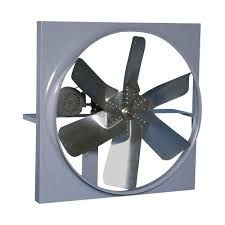 canarm belt drive wall exhaust fan with cabinet back guard and shutter 48in