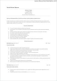 Sample Social Worker Resume No Experience As Well As Social Worker