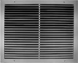 bard wall hung 18 25 return filter grill 20x12 rfg2 for use heat pump and straight cool electric bard units 1 5 ton 2 ton