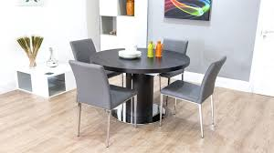 gray round kitchen table dark wood round extending dining table white or grey faux leather with