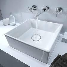 vessel sink installation pop square bathroom kraus drain