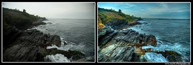hdr photography before after. Unique Before Before And After Of Newport RI Rocks Near Ocean Ave Inside Hdr Photography N