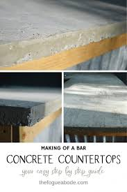 making a bar concrete countertops diy diyconcretecountertops diycountertops mancave