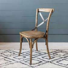bistro oak dining chair
