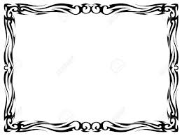 simple frame tattoo. Fine Simple Simple Black Tattoo Ornamental Decorative Frame Isolated Stock Vector   16557338 On Simple Frame Tattoo C