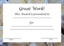 Good Job Template Great Job Work Printable Certificate Template Free