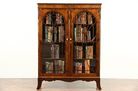 english tudor 1920 s antique library bookcase glass doors with grills