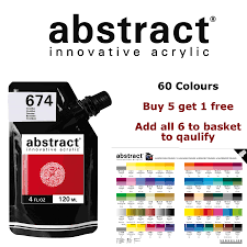 Sennelier Abstract Acrylic Paint 120ml Heavy Body Pouches 60 Colours