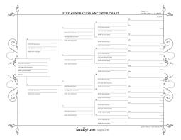 9 Generation Family Tree Template Printable Family Tree Template 9 Generations Bow Tie Empty To Fill