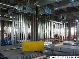 Interior metal framing Gypsum Board Metal Lee Drywall Inc Interior Metal Framing At The 2nd Floor Facing South