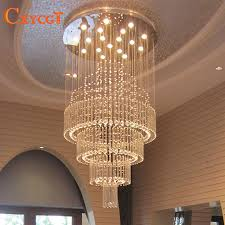 crystal chandelier living room round staircase light long hanging lights l28