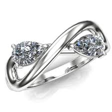 infinity diamond engagement ring. two stone infinity diamond engagement ring click here to enlarge