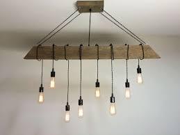 rustic light fixtures elegant since custom made reclaimed barn beam light fixture bar restaurant home