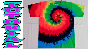 Tie Dye Shirt Swirl Design How To Tie Dye A Rainbow Spiral Or Swirl Shirt Full Tutorial 9