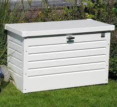 metal storage box. biohort garden storage boxes leisure time 100 pure white metal box o