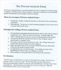 Example Of Process Essays Process Analysis Essay Example Essay Examples Writing