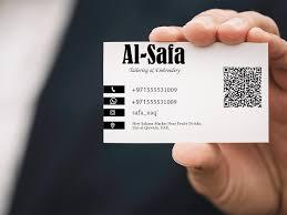 Tailors Visiting Card Design Minimal Business Card Design By Usman Fiaz On Dribbble