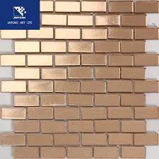 jyx008 copper foil gold glass tile