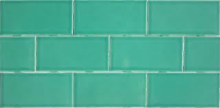 teal rectified subway tile handmade in the u s a