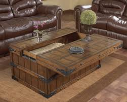 Simple Large Square Coffee Table With Storage ...