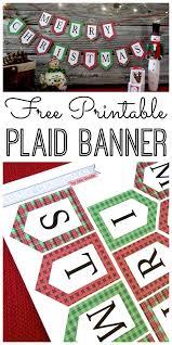 Merry Christmas Banner Print Mini Merry Christmas Banner And Holiday Printables Blog Hop Cricut