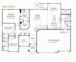one story floor plans with bonus room awesome 3 bedroom house plans with single garage awesome