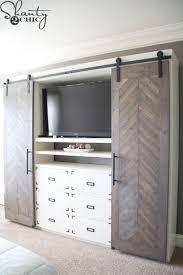 barn door media center. Diy-sliding-barn-door-media-console Barn Door Media Center A