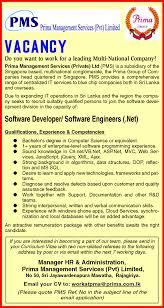 software developer software engineers prima management job description