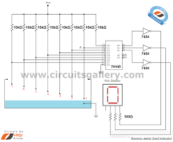 water level detector circuit diagram ireleast info numeric water level indicator liquid level sensor circuit diagram wiring circuit