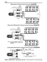msd ignition wiring diagrams msd 2 step launch control for ford mod motors 99 up wiring options