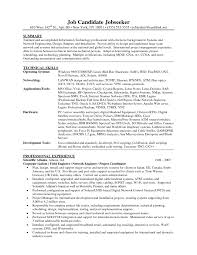 Network Engineer Resume Example Examples Of Resumes