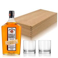 jim beam bourbon gift set with gles
