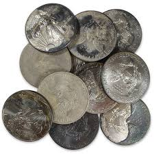 Circulated Cull Silver Eagles Tarnished Or Spotted