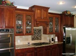 top 74 attractive edgewoodcabinetry kitchen cabinets cherry with glass doors and iron accents cabinet inserts front bubble for door custom white kichen