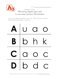uppercase and lowercase letters worksheet a-d | Home.SCHOOL ...