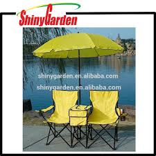 picnic double folding chair w umbrella table cooler fold up beach camping chair picnic double folding chair beach chair camping chair on