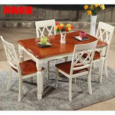 get ations terranean solid wood dining table dinette bination rectangular oak dining table dining table and four chairs