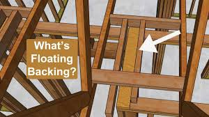 diffe ways to install roof truss ceiling corner backing house framing ideas