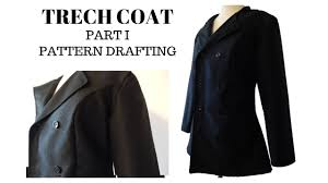 Trench Coat Pattern Inspiration How To Draft Pattern Trench Coat Part I YouTube