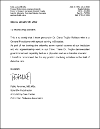 letter of recommendation for a doctor recommendation letter  doctor letter of recommendation template