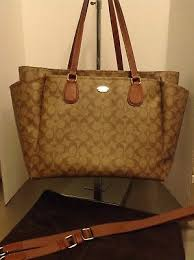 ... reduced rare coach signature leather baby diaper tote 677c3 56433 ...