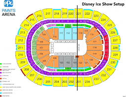 Ppg Paints Seating Chart Hockey Disney On Ice Presents Reach For The Stars Ppg Paints Arena