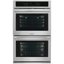 double electric wall oven self cleaning with convection in stainless