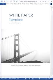 White Paper Format White Paper Templates My Software Templates