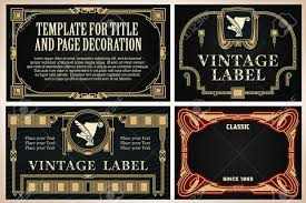 Classic Sticker Design Vintage Frame Design For Labels Banner Sticker And Other Design
