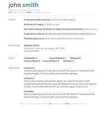 Free Microsoft Resume Templates Amusing Resume Template About O