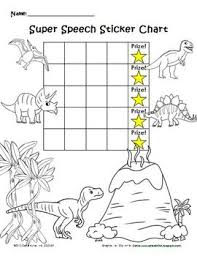 Dinosaur Speech Sticker Chart Coloring Page