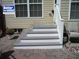 steps down to patio from back door